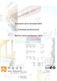 Broschüre zur Exkursion - Haus der Zukunft