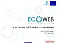 Your gateway to EU-funded eco-innovations