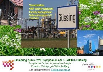 Einladung 6.WNF Symposium