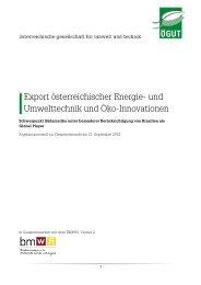 Gesprächsrunde Export österreichischer Energie - ÖGUT