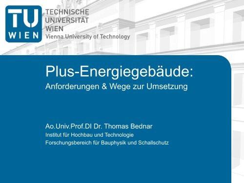 Plus-Energiegebäude: