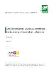 Genderspezifische Basisdatenerhebung für die Energiewirtschaft in ...