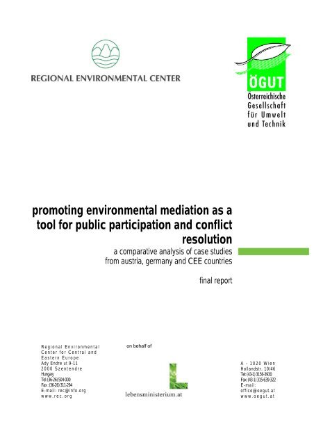 promoting environmental mediation as a tool for public ... - ÖGUT
