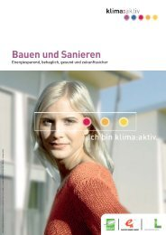 Bauen und Sanieren - Klima Aktiv