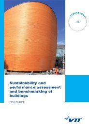 Sustainability and performance assessment and ... - VTT