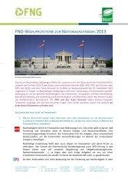 Das Forum Nachhaltige Geldanlagen (FNG) - ÖGUT