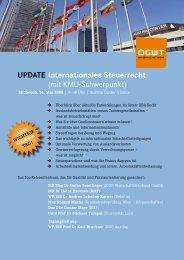 UpdAte Internationales Steuerrecht (mit KMU-Schwerpunkt)