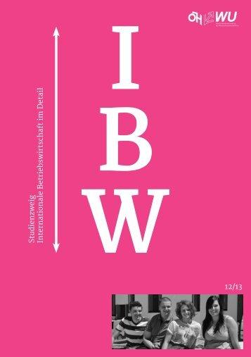 Deine Broschüre im Studium IBWL - ÖH WU