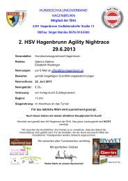 2. HSV Hagenbrunn Agility Nightrace 29.6.2013 - ÖHU