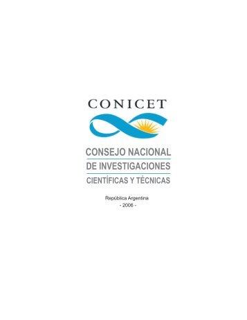 Conicet : Consejo Nacional de Investigaciones Científicas y ... - OEI