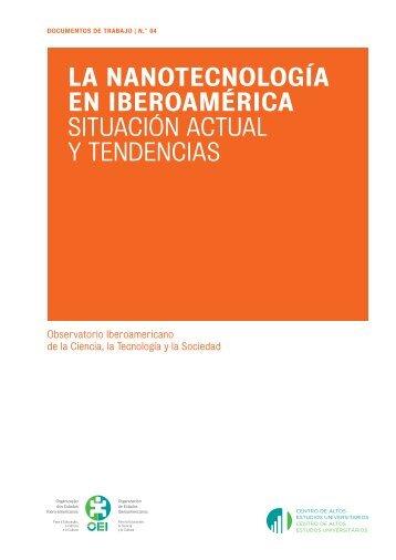 La nanotecnología en Iberoamérica : situación actual y ... - OEI