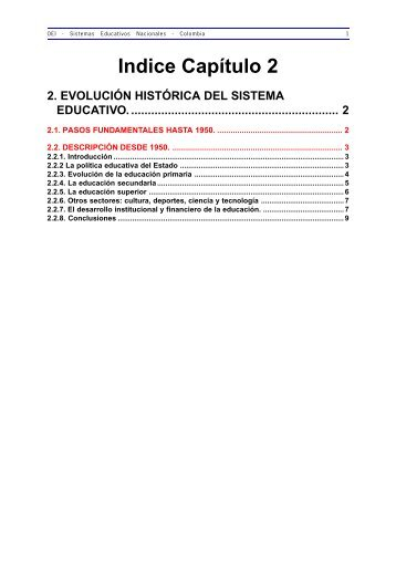 2. Evolución Histórica del Sistema Educativo - OEI