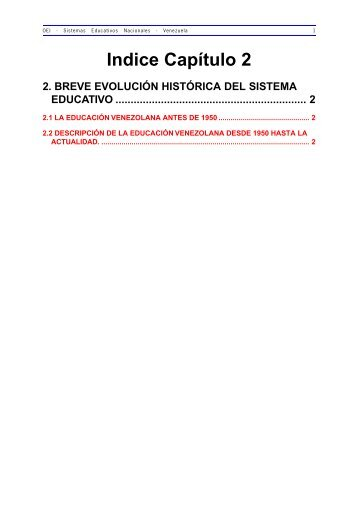2. Breve Evolución Histórica del Sistema Educativo - OEI