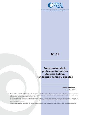 Construcción de la profesión docente en América Latina ... - OEI