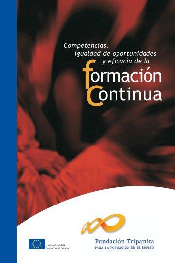 Competencias, igualdad de oportunidades y eficacia de la ...