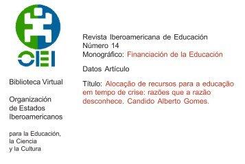 Biblioteca Virtual Organización de Estados Iberoamericanos ... - OEI