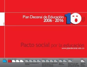 Plan Nacional Decenal de Educación 2006 - 2016 - OEI