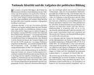 Nationale Identität und die Aufgaben der politischen Bildung