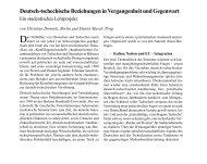 Deutsch-tschechische Beziehungen in ... - Osteuropa-Institut
