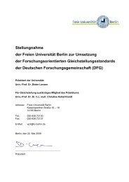 Anmerkungen und Vorschläge aus Büro F - Freie Universität Berlin