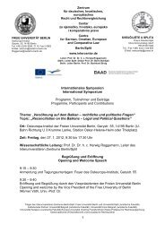 Freie Universität Berlin - Intercentar