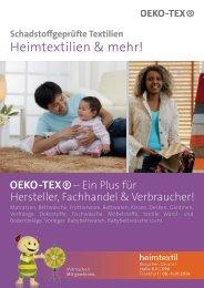 Heimtextilien & mehr! - Oeko-Tex