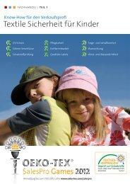 Basiswissen Textile Sicherheit für Kinder (Teil 1) - Oeko-Tex