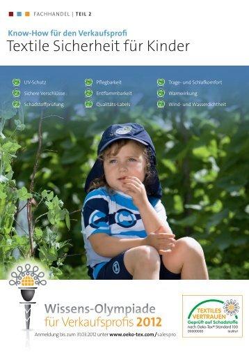 Textile Sicherheit für Kinder - Oeko-Tex