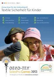 Basiswissen Textile Sicherheit für Kinder - Oeko-Tex