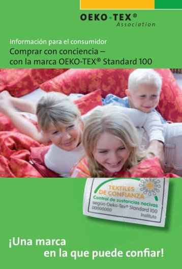 Comprar con conocimiento - Gracias a la OEKO-TEX® Standard 100