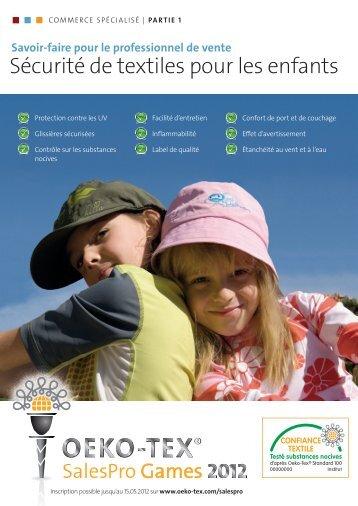 Connaissances de base sur la sécurité des enfants - Oeko-Tex