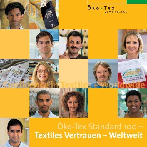 Öko-Tex Standard 100 – Textiles Vertrauen - Hohenstein Institute