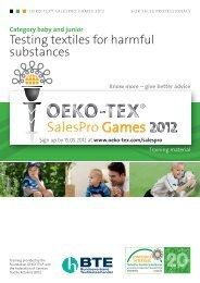 OETS 100 SalesPro BABY JUNIOR EN - Oeko-Tex
