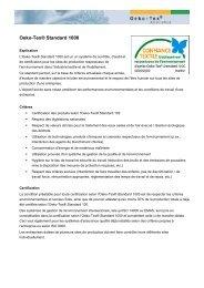 Factsheet OEKO-TEX® Standard 1000