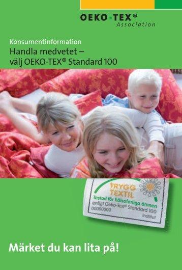 Handla medvetet - välj OEKO-TEX® Standard 100