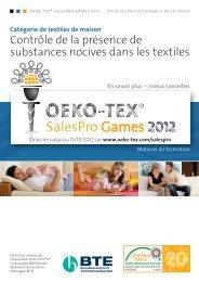 SalesPro documents de formation - Textiles ménagers - Oeko-Tex
