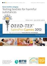OETS 100 SalesPro HOME TEXTILES EN - Oeko-Tex