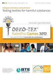 OETS 100 SalesPro LINGERIE OUTERWEAR EN - Oeko-Tex
