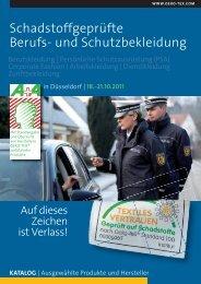 OETS 100 Beschaffungskatalog Berufskleidung de - Oeko-Tex