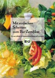 Mit einfachen Schritten zum Bio-Zertifikat - Oekolandbau.de
