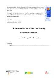 Fragen und Aufgaben zum Thema Ethik der ... - Oekolandbau.de