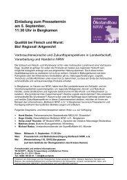 Einladung zum Pressetermin am 5. September ... - Oekolandbau.de