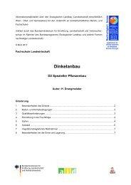 Dinkelanbau [241 KB] - Oekolandbau.de