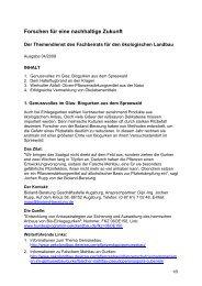 Themendienst Ökolandbau, Ausgabe 04/2009 ... - Oekolandbau.de