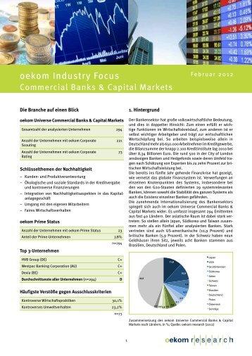 oekom Industry Focus - Oekom Research