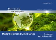 Metzler Sustainable Dividend Europe - oekom research AG