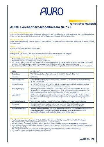 AURO Lärchenharz-Möbelbalsam Nr. 173