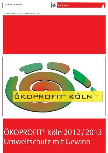 ÖKOPROFIT Köln 2012/2013 - Ökoprofit NRW