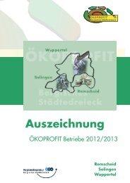 ÖKOPROFIT® Bergisches Städtedreieck VIII - Industrie- und ...