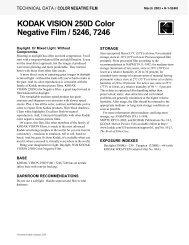 KODAK VISION 250D Color Negative Film / 5246, 7246